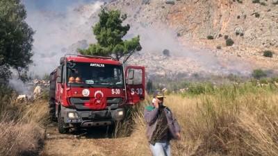 bild - Antalya'da çalılık yangını
