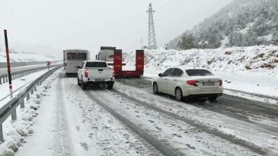 Kahramanmaraş'ta ulaşıma kar engeli - KAHRAMANMARAŞ