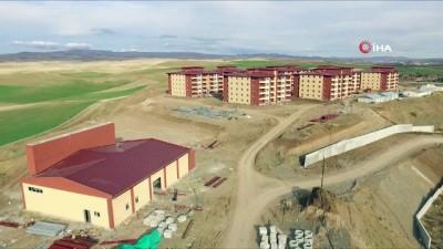Yapımı devam eden Sungurlu T Tipi Kapalı Cezaevi havadan görüntülendi