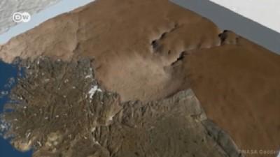 Buzul tabakasının altında bulunan ilk krater