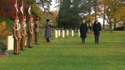 İngiltere ve Belçika Başbakanı Birinci Dünya Savaşı'nda hayatını kaybeden askerleri andı