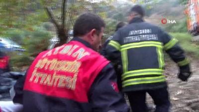 bild -  Nişanlı çift ölümden döndü, uçurumdan yuvarlanan otomobildeki gençler ekipler tarafından kurtarıldı