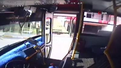 Halk otobüsü sürücüsü saatlerce durakta bekleyen engelli çocuk için güzargahını değiştirdi...Olay anları kamerada