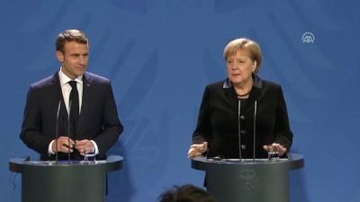 Macron-Merkel basın toplantısı - BERLİN