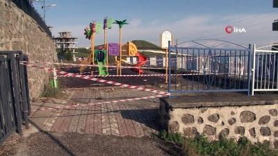 Samsun'da çöken çocuk parkı duvarını yapan müteahhit konuştu İzle