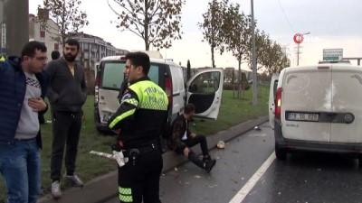 Trafikteki bir anlık kararsızlık kazaya yol açtı: 3 yaralı