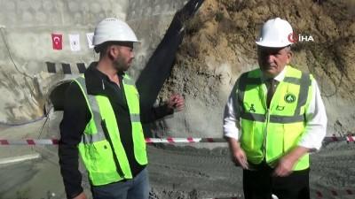 Bolu'da, 3 bin 674 metrelik Karadere Tüneli tamamlandı