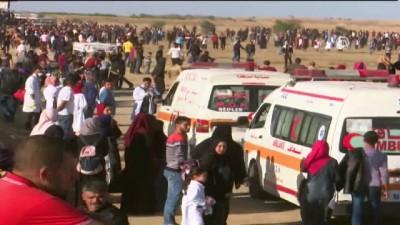Gazze sınırındaki 'Büyük Dönüş Yürüyüşü' gösterileri devam ediyor (1) - HAN YUNUS