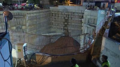 alabalik - Ümraniye'de inşaat alanı yanındaki yolda göçük (3) - İSTANBUL