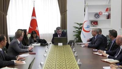 Bakan Koca, ABD Ticaret Odası temsilcilerini ağırladı