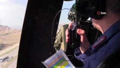 Helikopter destekli trafik denetimi yapıldı