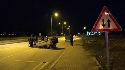 Tunceli-Elazığ karayolunda otomobil takla attı: 3 yaralı