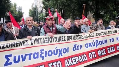 Yunanistan'da emeklilerden 'kesintiler iptal edilsin' talebi - ATİNA