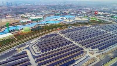 enerji verimliligi -  Altı otopark üstü güneş enerjisi tarlası...Güneş Enerji Santrali havadan görüntülendi