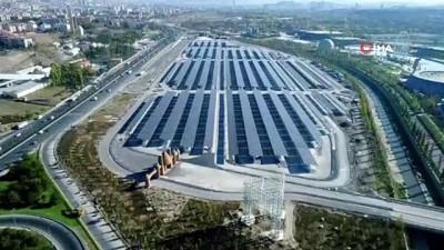 enerji verimliligi -  Altı otopark, üstü güneş enerjisi tarlası