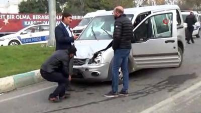 Kahramanmaraş'ta 10 araç birbirine girdi