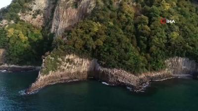 destina -  Güzelcehisar lav sütunlarına 5 ayda 50 bin turist...Türkiye'de tek olan lav sütunları havadan görüntülendi