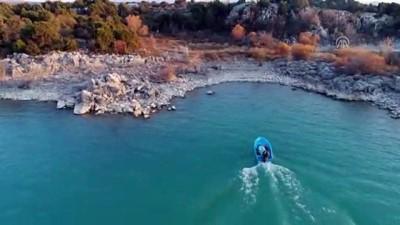 Beyşehir Gölü'nde drone destekli kaçak avcı operasyonu - KONYA