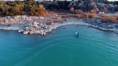 Beyşehir Gölü'nde droneli nefes kesen kaçak avcı operasyonu