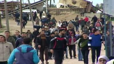 mermi - Gazze sınırındaki 'Büyük Dönüş Yürüyüşü' gösterileri 35. cumasında (1) - GAZZE