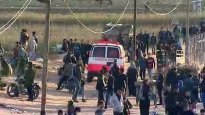 Gazze sınırındaki 'Büyük Dönüş Yürüyüşü' gösterileri 35. cumasında (2) - GAZZE