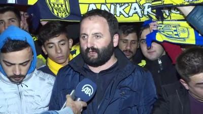 MKE Ankaragücü taraftarlarından, TFF'ye protesto - ANKARA