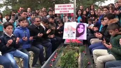 Şehit öğretmen Aybüke Yalçın mezarı başında anıldı - ÇORUM