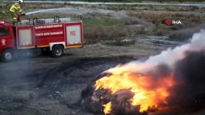 - Burhaniye'de çöplük yangını korkuttu