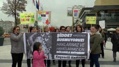 Kadına şiddete karşı davullu zurnalı yürüyüş - KAYSERİ