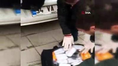 Çorlu'da 6 bavul kaçak telefon ele geçirildi