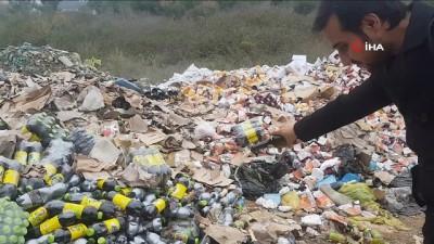 alkollu icecek -  Ormana atılan tarihi geçmiş ürünlerin tüketildiği ihbarı jandarmayı alarma geçirdi