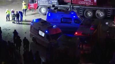 Kuzey Marmara Otoyolu'ndaki iş kazası - CHP milletvekilleri kaza yerini ziyaret etti - KOCAELİ