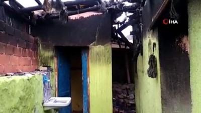 Lojmanda çıkan yangında Kur'an-ı Kerim zarar görmedi