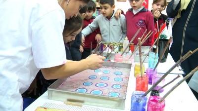 Lübnanlı çocuklar ebru sanatıyla tanıştı - BEYRUT