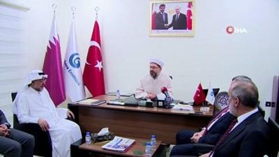Diyanet İşleri Başkanı Erbaş, Katar'da Yunus Emre Enstitüsü'nü ziyaret etti