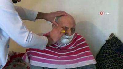 Engelli, Hasta ve yaşlılara evde ücretsiz berber hizmeti