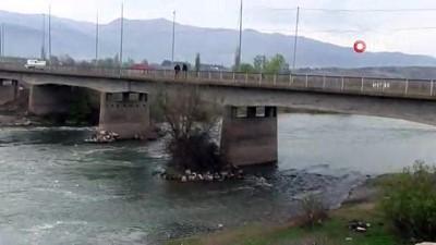 yasli kadin -  Herkesin gözü önünde köprüden atladı