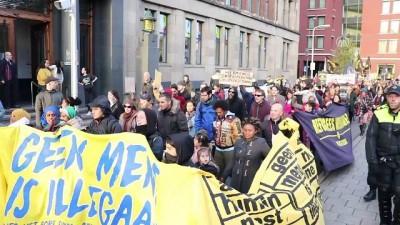 Hollanda'da AB'nin göç politikaları protesto edildi - LAHEY