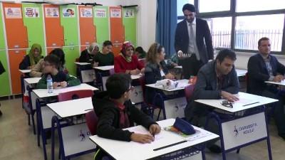 Veliler ve çocukları aynı sınavda ter döktü - ANKARA