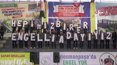 Gaziosmanpaşa'da 'engelsiz' futsal maçı renkli görüntülere sahne oldu
