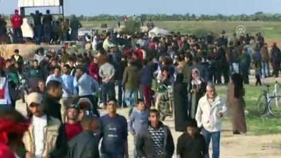 mermi - Gazze sınırındaki 'Büyük Dönüş Yürüyüşü' gösterileri 36. cumasında (3) - GAZZE