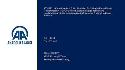 Kocaeli merkezli FETÖ/PDY soruşturması
