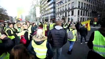 'Sarı yelekliler'in protestosu Belçika'ya sıçradı - BRÜKSEL