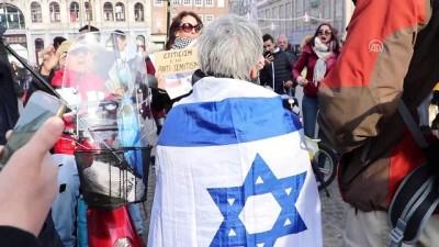 alabalik - Hollanda'da Filistin gösterisinde İsrail taraftarından provokasyon - AMSTERDAM