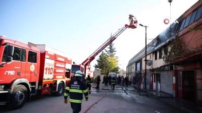 yangina mudahale -  Eskişehir'de PVC atölyesinde yangın