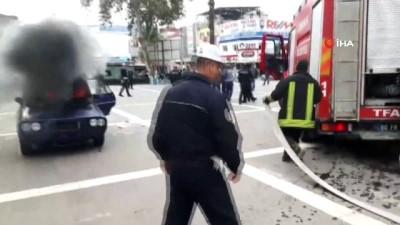 Osmaniye'de dehşete düşüren görüntü kamerada... İntihar girişiminde bulunurken kendisini ve polisleri yakıyordu