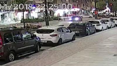 3 kişinin yaralandığı kaza güvenlik kamerasında