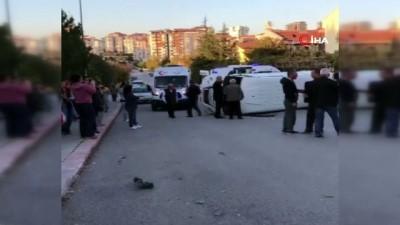 Başkent'te öğrenci servisi devrildi: 7 yaralı