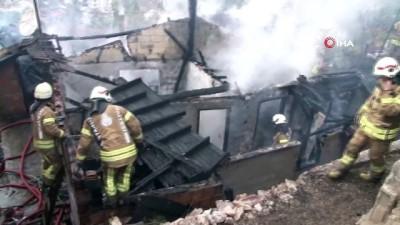 yangina mudahale -  Kartal'da gecekondu yangını: 2 yaralı