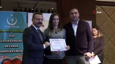 beyin kanamasi -  Organ bağışında bulunan aileler teşekkür belgesi ile ödüllendirildi